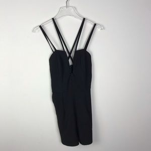 U wire romper with pockets